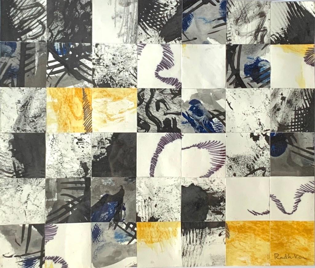 Radhika Mathews's Mind Quilt Ink, acrylic, graphite on paper
