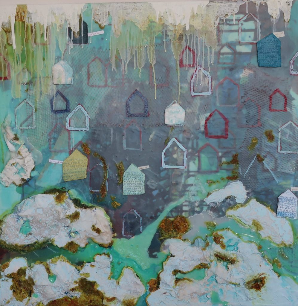 Terry Boutelle's Aleppo Acrylic and mixed media on canvas