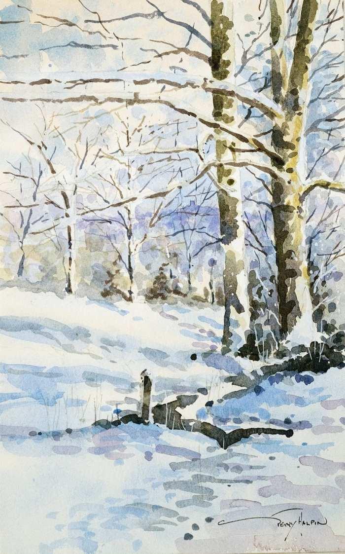 'WINTER LANDSCAPE NEAR RIVINGTON HALL' by Gerry Halpin