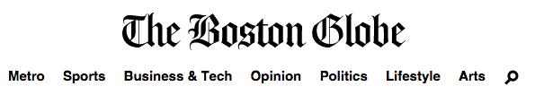 Boston Globe Header