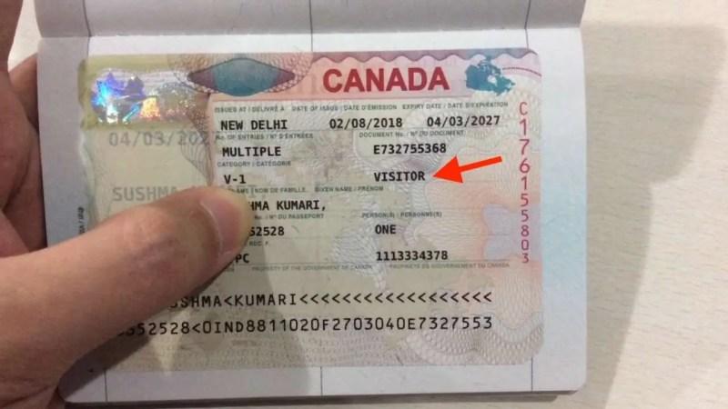 Visto de turismo canadense
