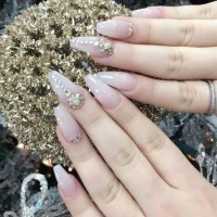 Pink Nail Designs With Diamonds - Nail Ftempo