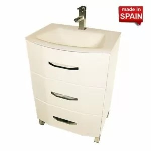 24 INCH BATHROOM VANITY LOFT-3 GLOSS WHITE SOCIMOBEL