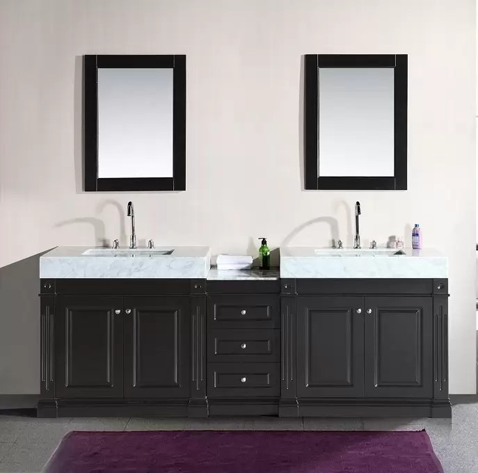 odyssey 88 double sink vanity set with trough style sinks design element dec101