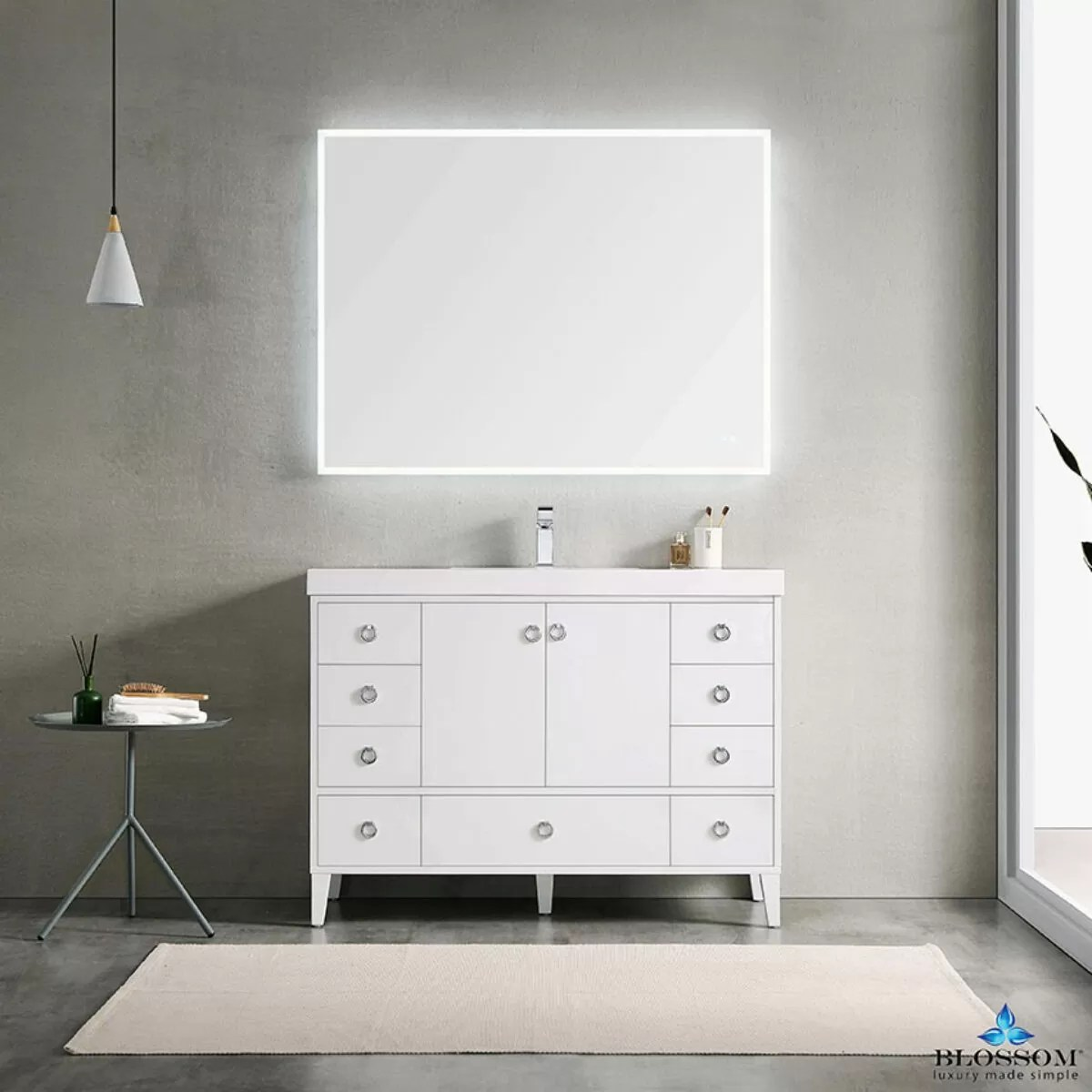 Bolossom Lyon 48 Inch Freestanding Single Buy Bathroom Vanity Online