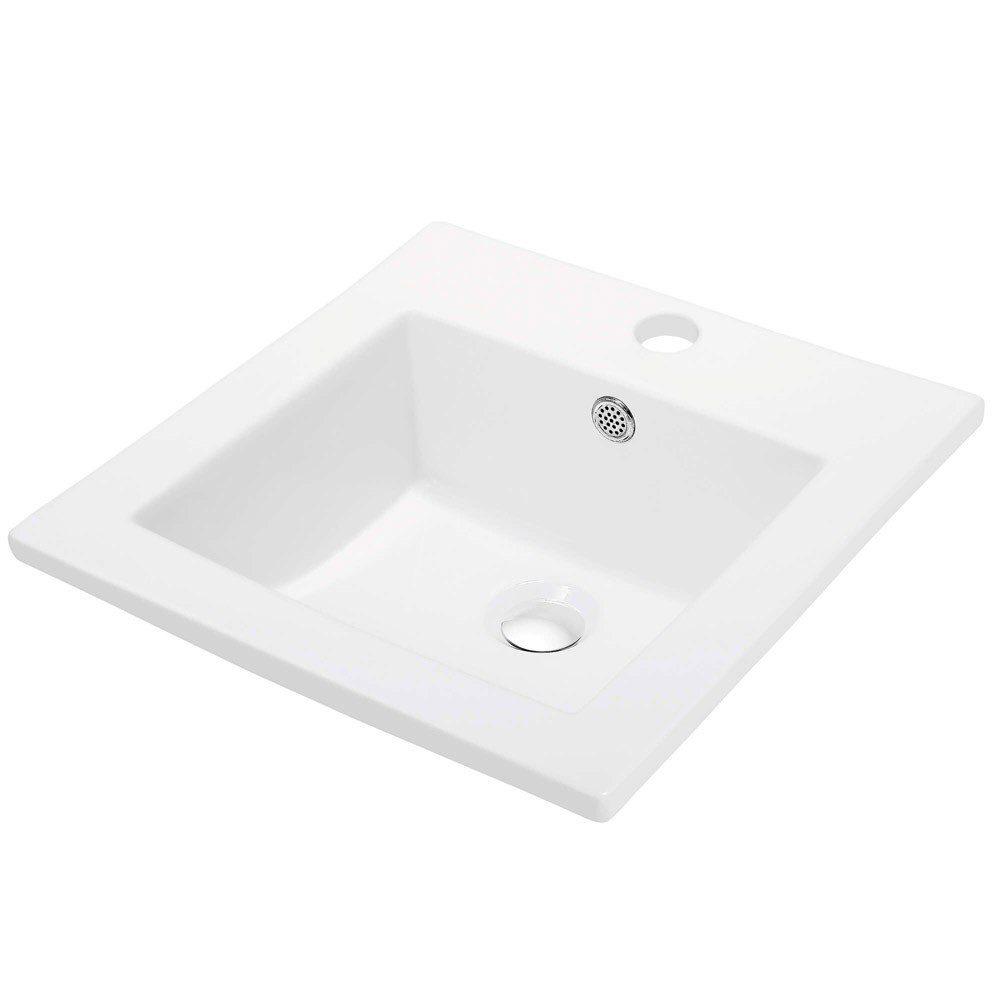 16 x 16 inch ceramic bathroom sink blossom