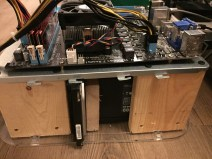 DIY PC Test Bench Side View HDD