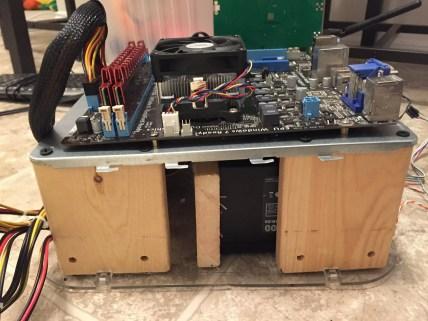 HDD Insert and PSU Installed in DIY Test Bench Case