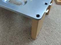 Legs Screwed In to Test Bench