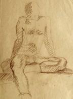 Sitting Male, '77, conte