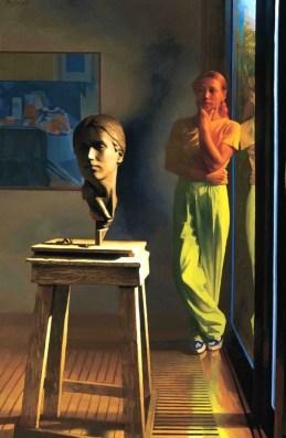 The Sculptor, 1982, oil on linen