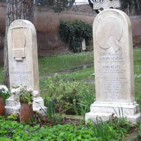 John Keats, who died feeling like such a failure, he requested his name not be included on his gravestone.