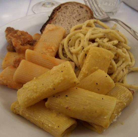 Sampling of pastas.