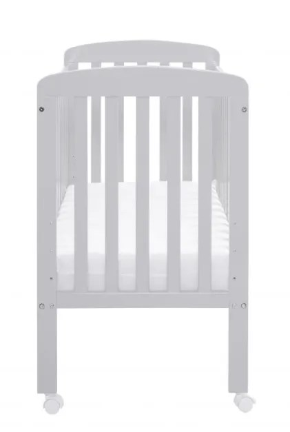 Back View Space Saver cot grey
