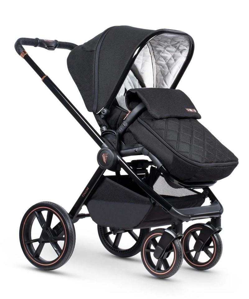 Venicci Tinum Stylish Black Seat Unit