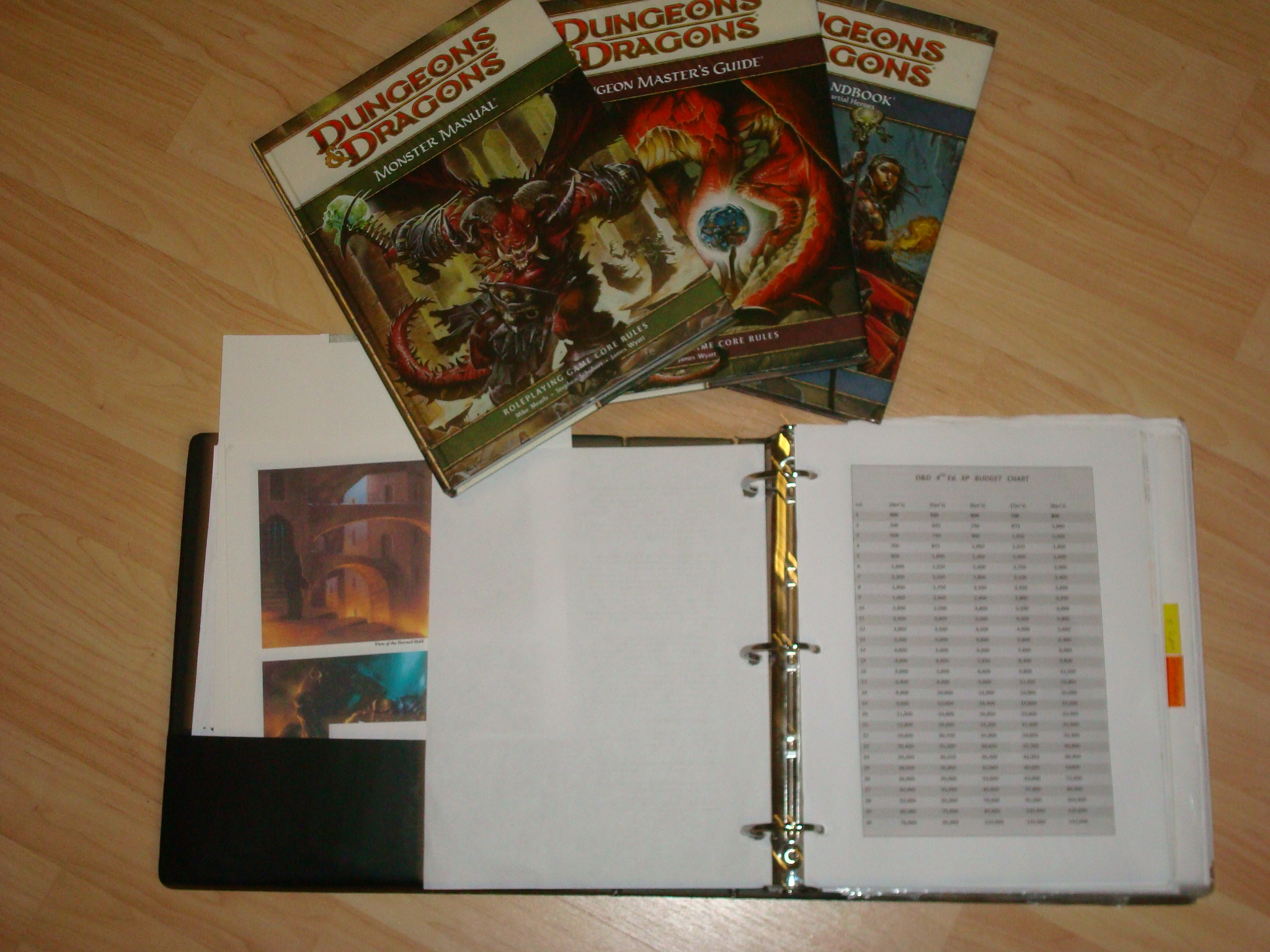Your DM'ing binder should be part of your core rulebooks.