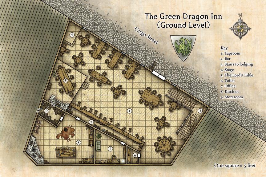 Green Dragon Inn © Wizards of the Coast