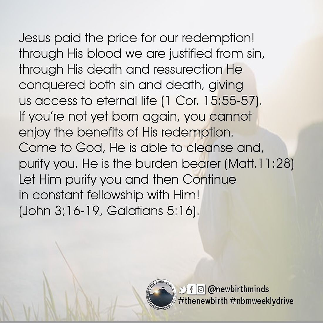 THIS WEEK DRIVE – JESUS PAID THE PRICE FOR OUR REDEMPTION