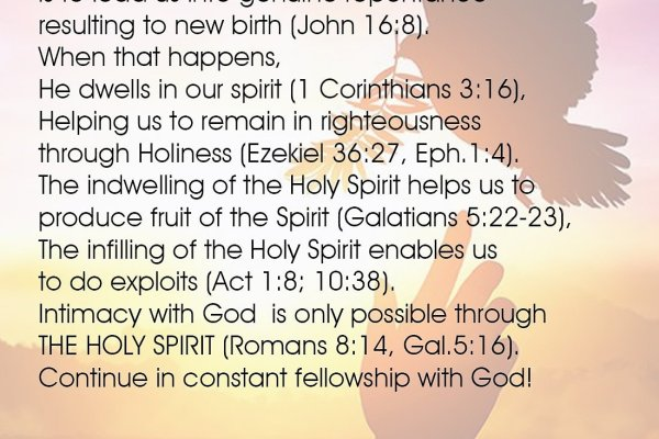 THIS WEEK DRIVE – THE MINISTRY OF THE HOLY SPIRIT