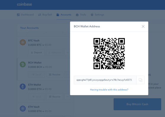 how to transfer bitcoin to coinbase wallet