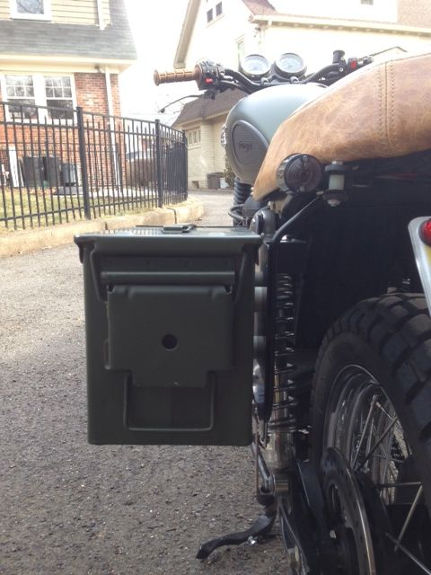 Ammo Can Luggage for the Triumph Bonneville Thruxton and