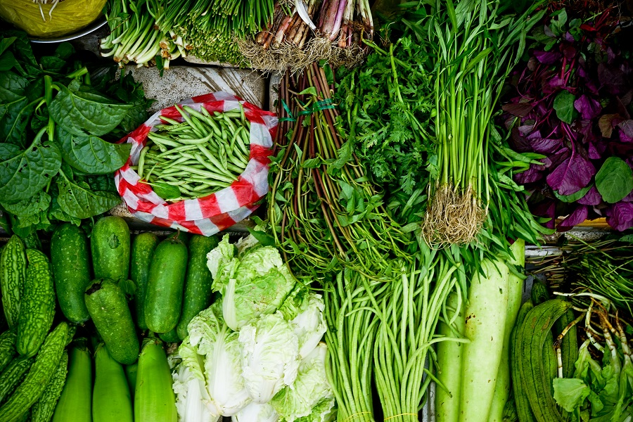 An assortment of green vegetables