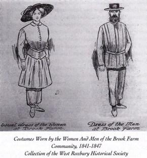 Men's and women's dress at Brook Farm