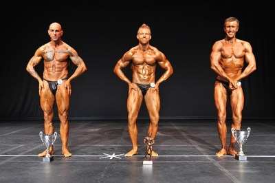 Classic Physique 3rd Cecil Oatway, 1st Josh Rioux, 2nd Eric Mourant
