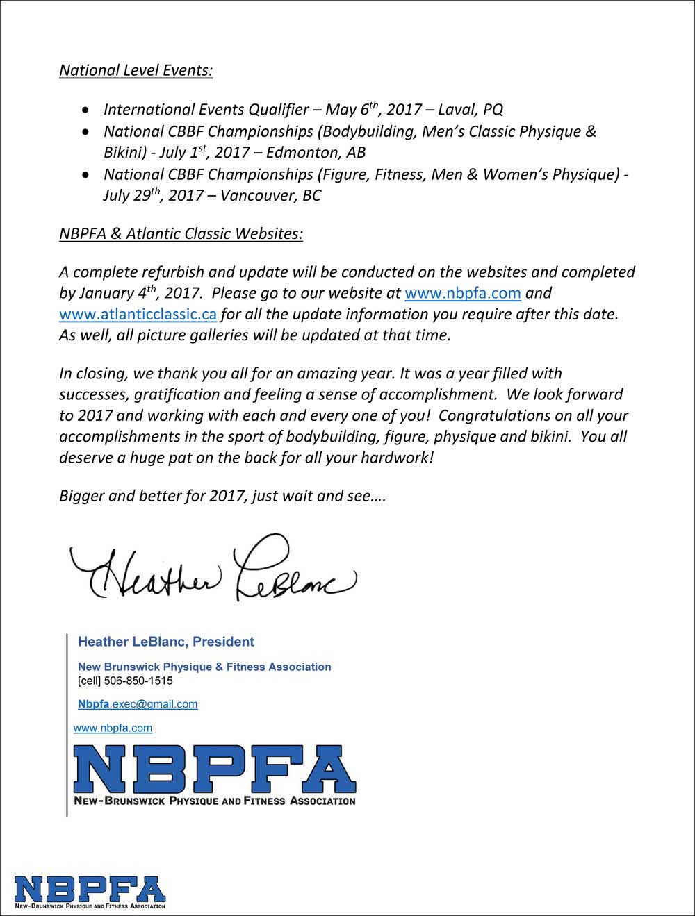 NBCPAPresident's Year End Review