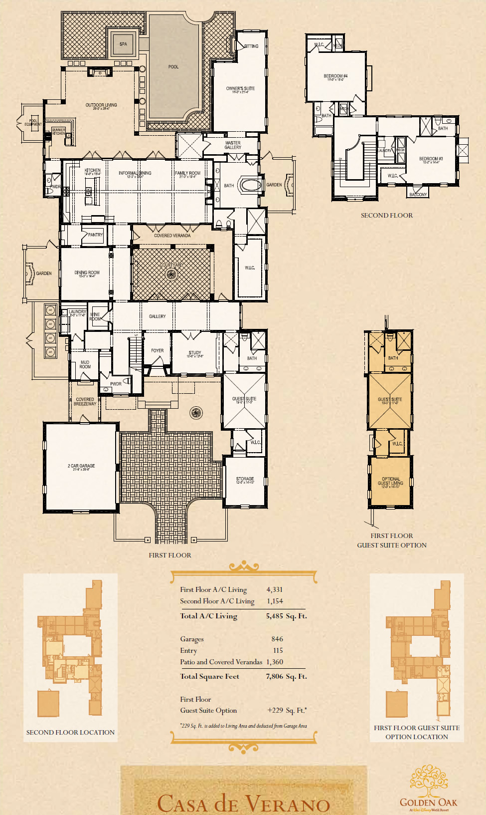 Disney Golden Oak Luxury new homes in Lake Buena VistaNew