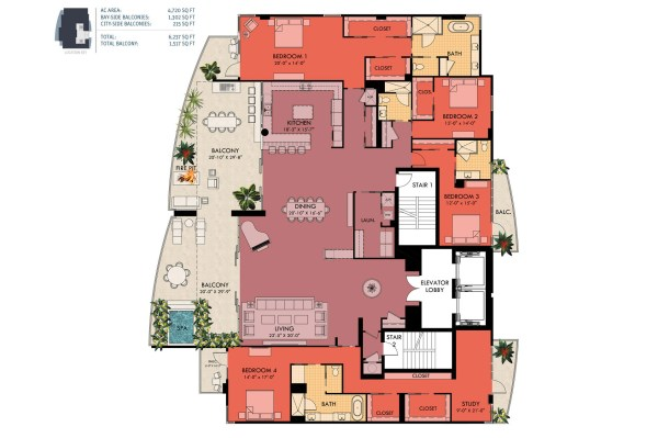 Luxury Penthouse Condo Floor Plans
