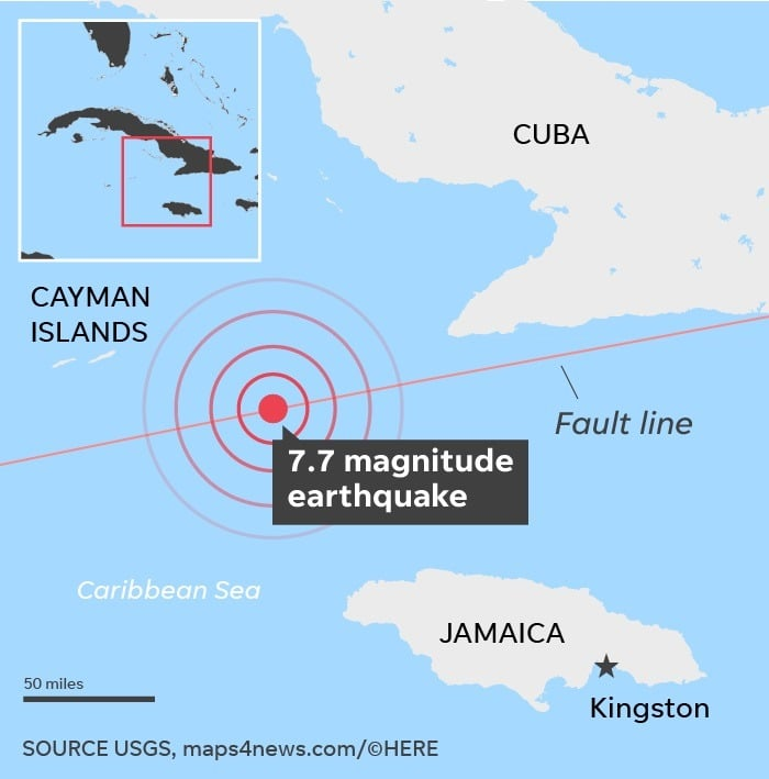 A 7.7 Magnitude Earthquake hits Jamaica - Tremors felt as far as Miami 48