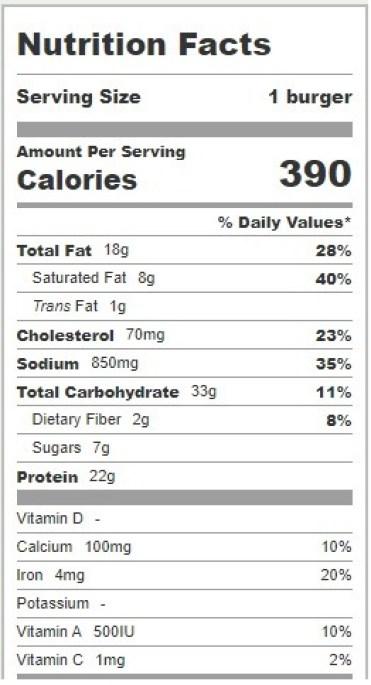 mcdouble calories
