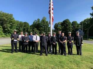 Fire Department members and local Clergy