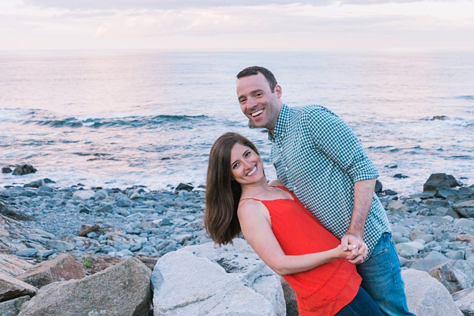 Maine Wedding and Engagement Photos at Sunset