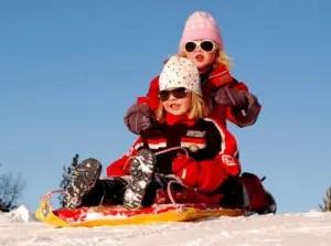 Kids sledding in Newburyport