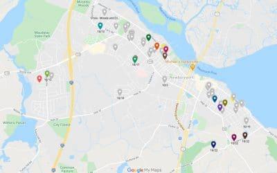 Spooky homes map of Newburyport area