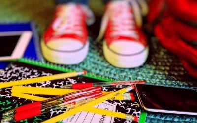 Back to School Kid's Shoes & School Supplies