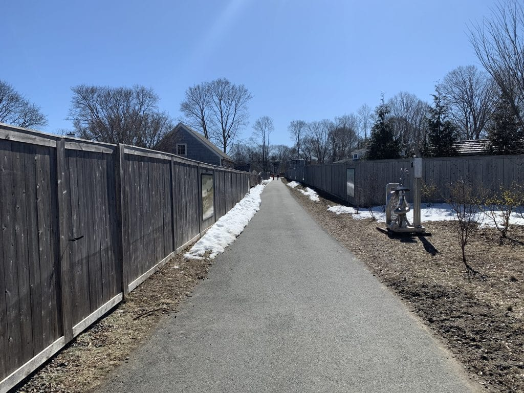 Clipper City Rail trail pathway