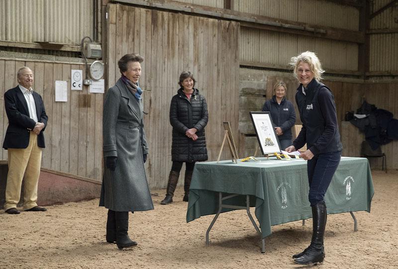 HRH sharing a joke with Cassilda Courtier-Dutton