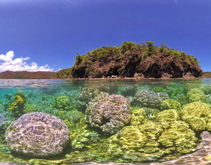 Underwater Scenic Images of New Caledonia Lagoon