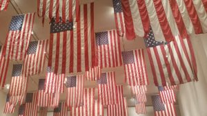 photo of Tang overhead flag exhibit