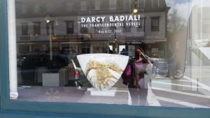 Darcy Badali, Lacoste opening, gallery window