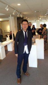 Shozo Michikawa at Lacoste Gallery, Concord, Ma., June 4, 2017