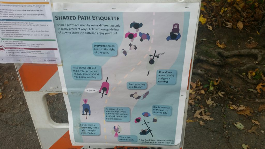 "Ranger Jean Posts Fresh Pond ""Rules of the Road"" Signs"