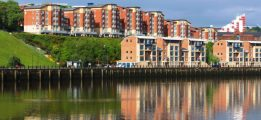 Flats along the Quayside