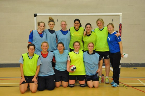 All the girls together after a fun match