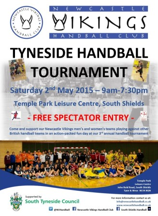 Tyneside Handball Tournament poster (May 2015)