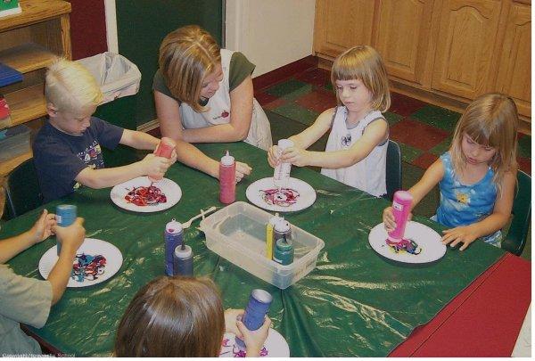 Preschool Art Center Activities