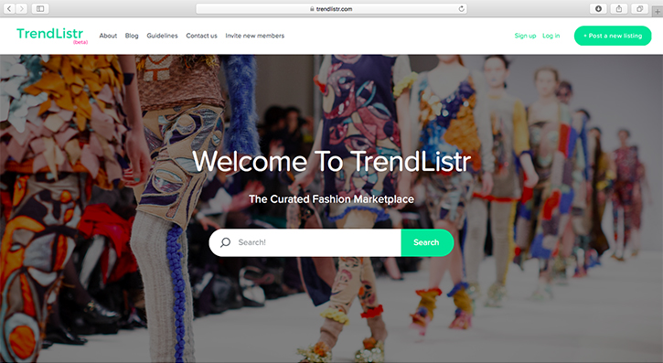 TrendListr - The Curated Fashion Marketplace